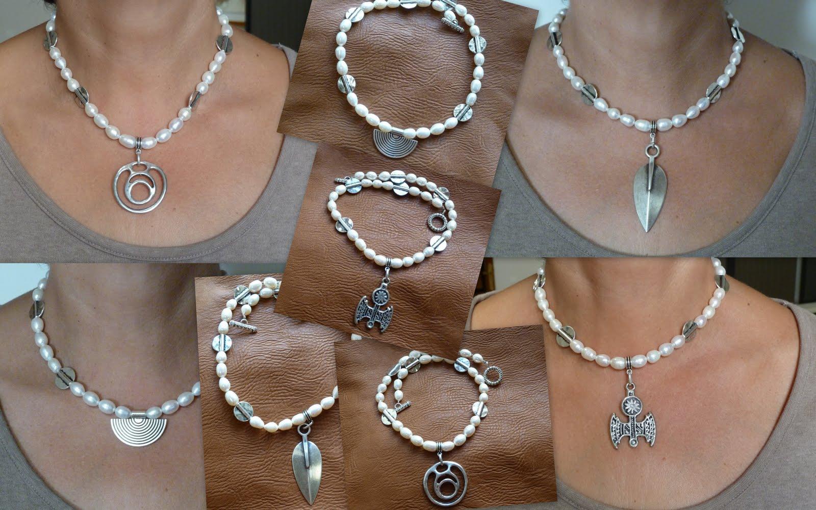 Gargantillas de perlas
