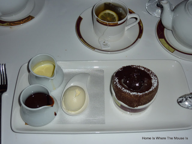 The Chocolate Souffle from Palo aboard the Disney Dream
