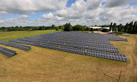 Britain largest solar installation for their national grid