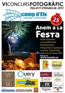 5º PREMIO EN EL VI CONCURSO CAMP D'ELX, PAISATGE I PAISANATGE 2013