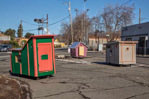 I've Seen People Turn Garbage Into Some Cool Stuff. But THIS…. This Is Absolute Brilliance. - each of the homes are built with a pitched roof