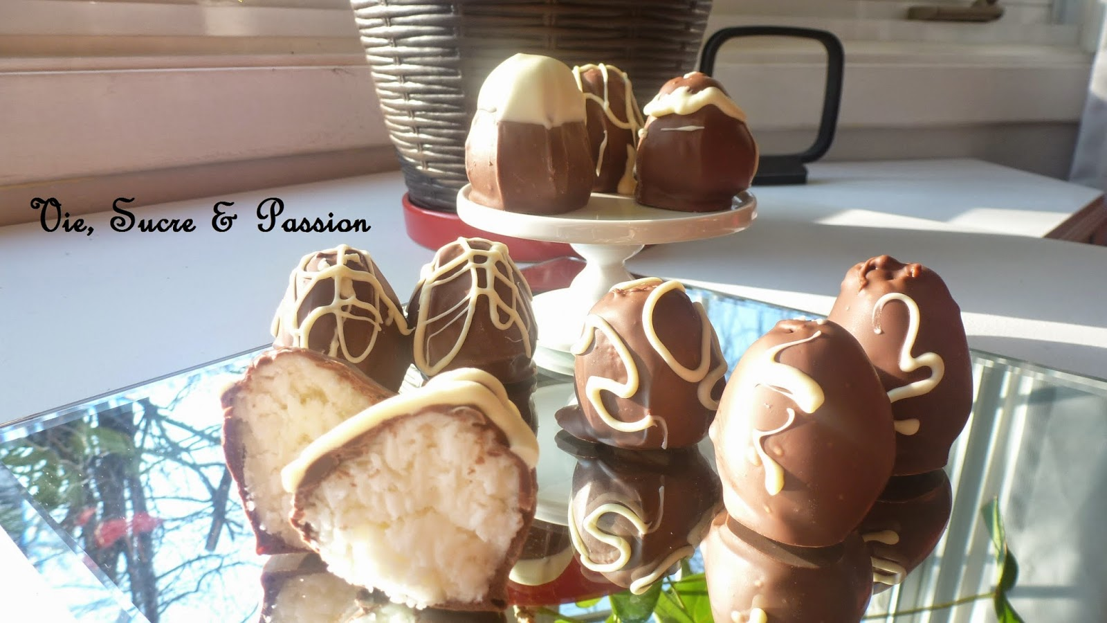 Homemade Coconut chocolates (easter eggs)