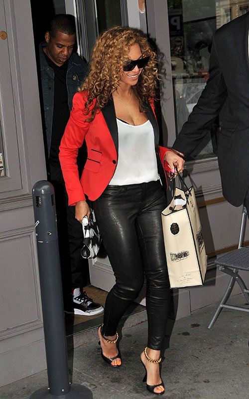Beyonce Tom Ford Leather Chain Sandals