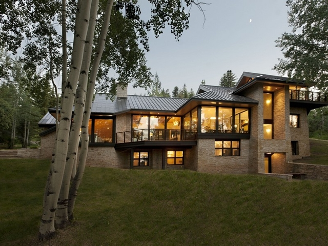 modern cabinet snowmass village mountain home for sale