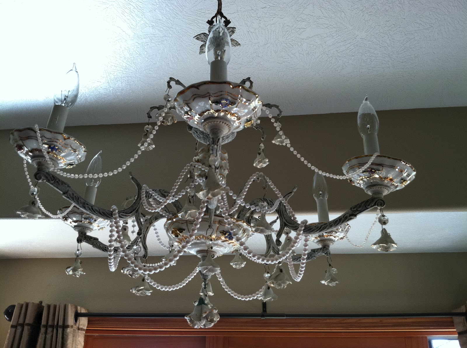 Natural homemade living shabby chic chandelier shabby chic chandelier mozeypictures Images
