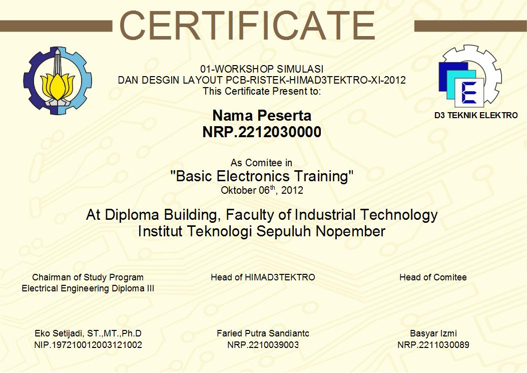 Catatan Moslem Engineer: contoh desain sertifikat pelatihan