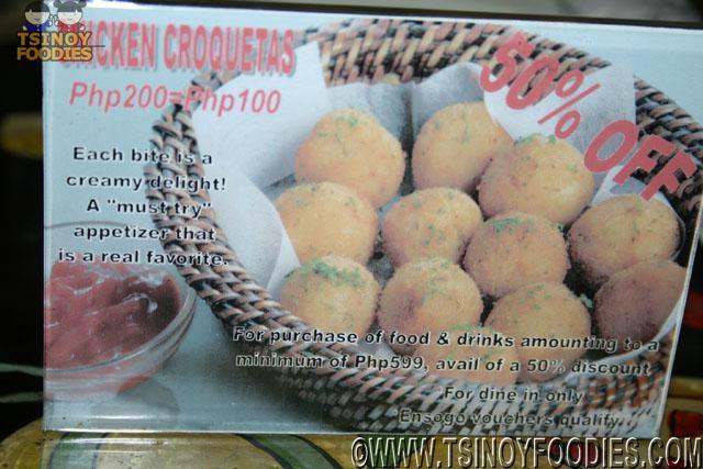 chicken croquetas promo