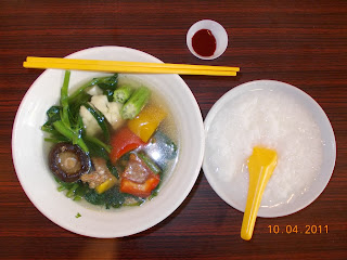 Yong Tau Fu (7 Items + Plain Porridge), S$ 3.90