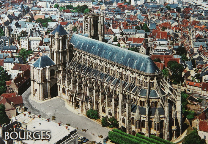 Bourges France  city photo : Bourges Cathedral from France UNESCO 635 ~ Postcards voyage