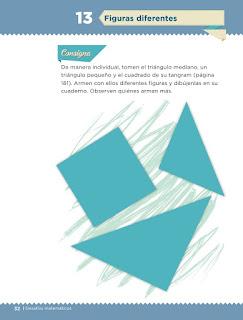 Apoyo Primaria Desafíos matemáticos 2do grado Bimestre 1 lección 13 Figuras diferentes