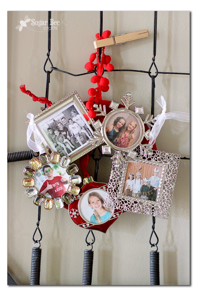 5 super fun ideas of crafting to do with mini frames of course you can always just use them as in as frame ornaments for your tree - Mini Picture Frame Ornaments