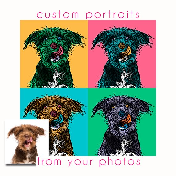 Custom Pop Art portraits
