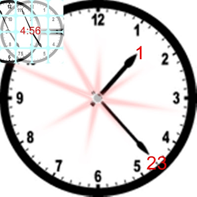 Clock 1:23 and 4:56