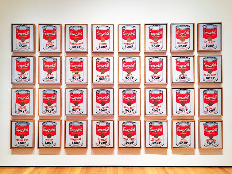 Campbell Soup cans by Andy Warhol at the MOMA, NYC
