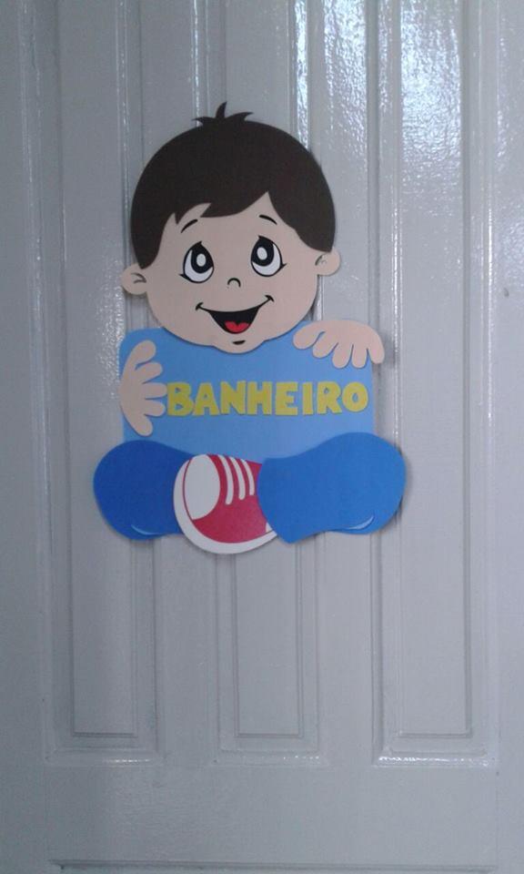 Decoração Porta de Banheiro Masculino  Educação Infantil