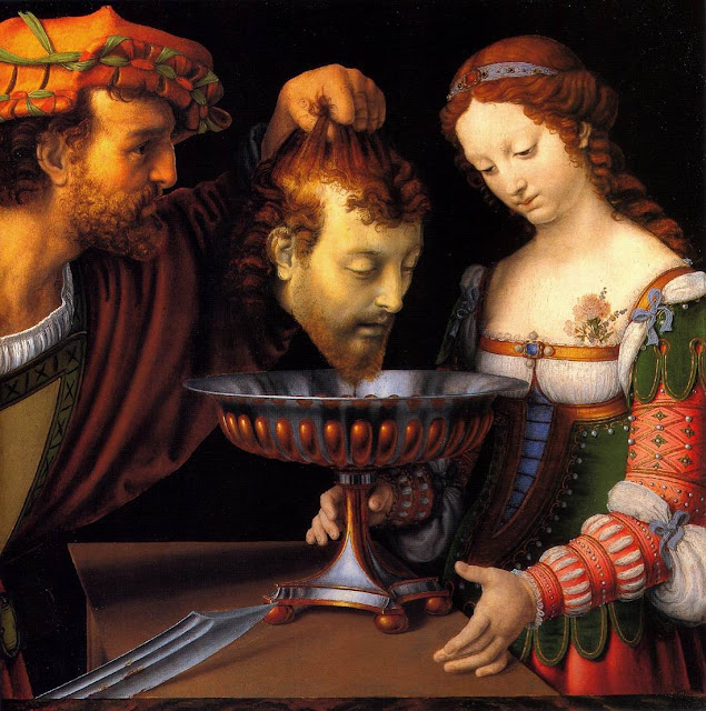 Salome with the head of John the Baptist 1520, Andrea Solario,paintings