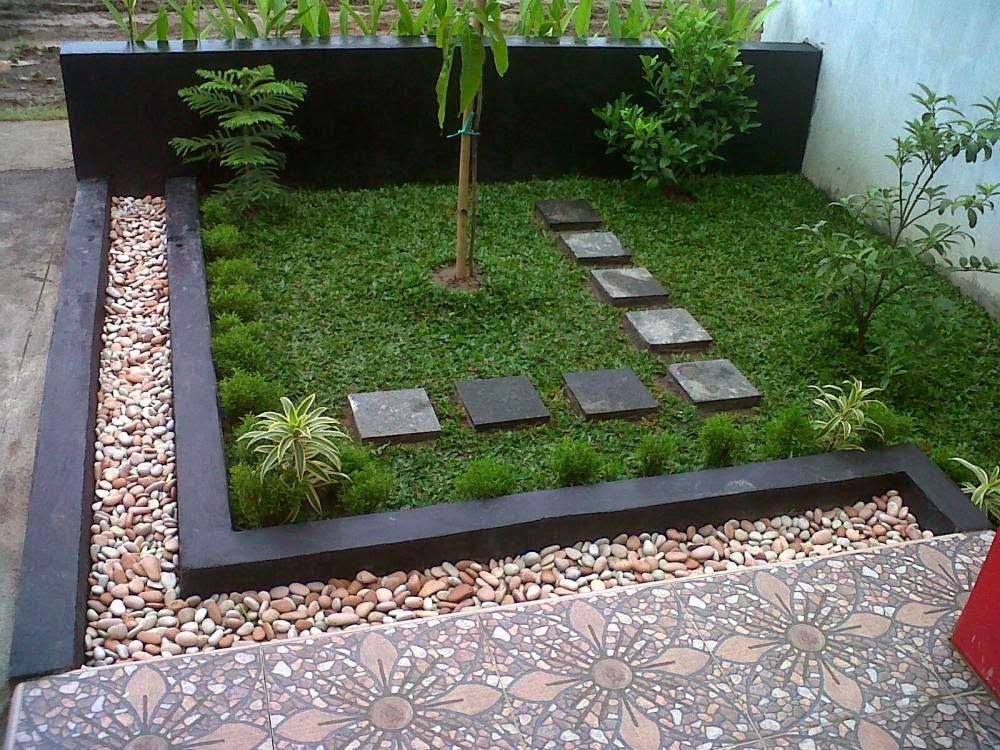 Teras dan taman rumah minimalis 2