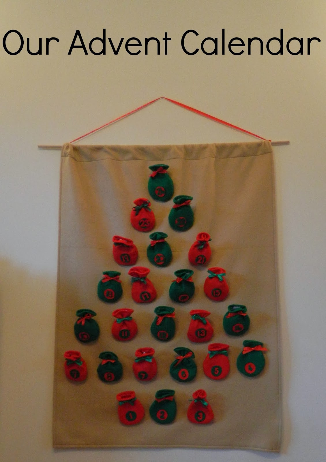 Advent Calendar Self Made : Cakes kids and other ramblings my home made advent calendar