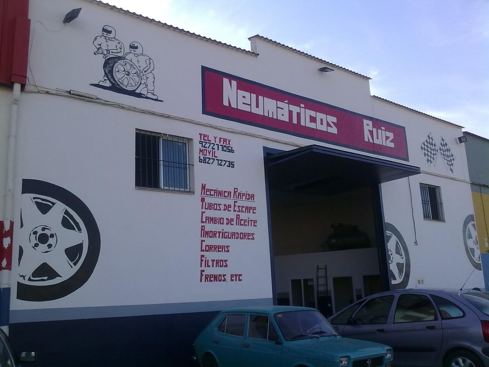 Decorarte pintando fachada de taller mec cino - Fachadas de talleres ...
