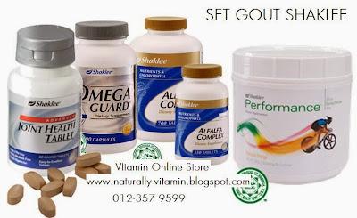 set gout shaklee, kurangkan sakit gout, gout