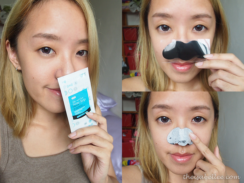 Applying Cettua Charcoal Silky & Clear Nose Strips