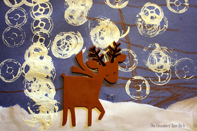 reindeer habitat, christmas craft