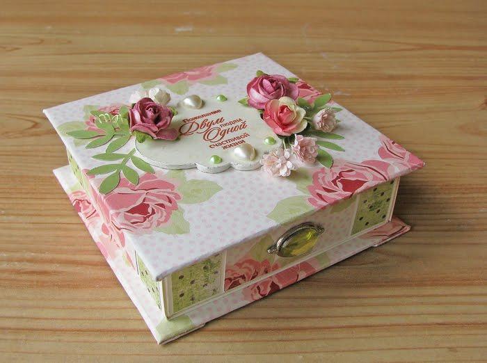 Подарочная коробочка на свадьбу своими руками
