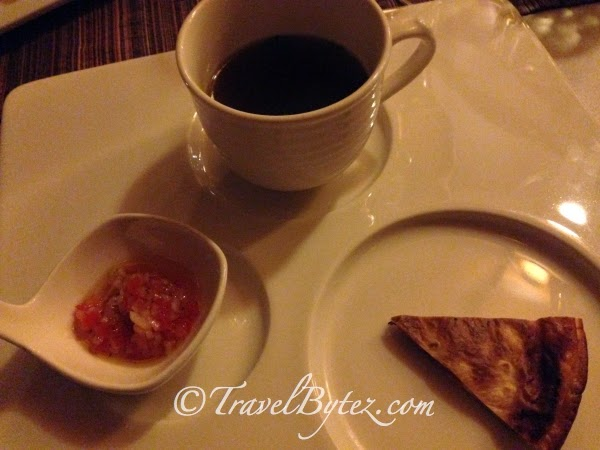 Chicken Broth, Quesadilla, Smoked Duck Breast, Papaya