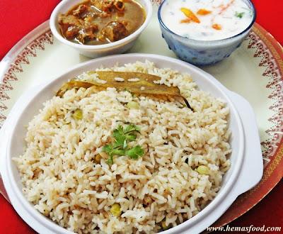 Kobbari pulao - Coconut milk pulao