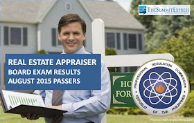 PRC August 2015 Real Estate Appraiser board exam