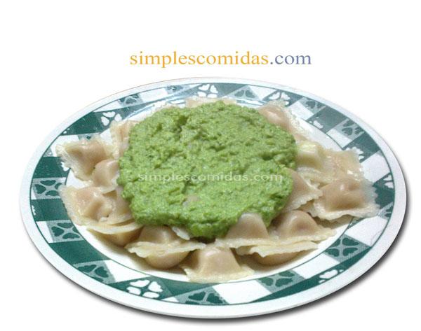 pasta con salsa de brocoli