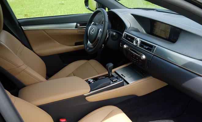 Lexus GS 450h F-Sport interior