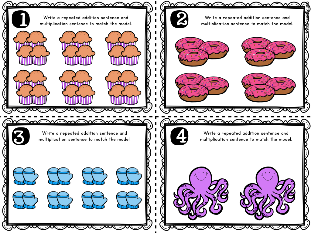 Multiplication worksheets grade 3 with pictures