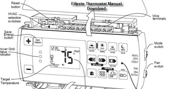 filtrete thermostat manual download