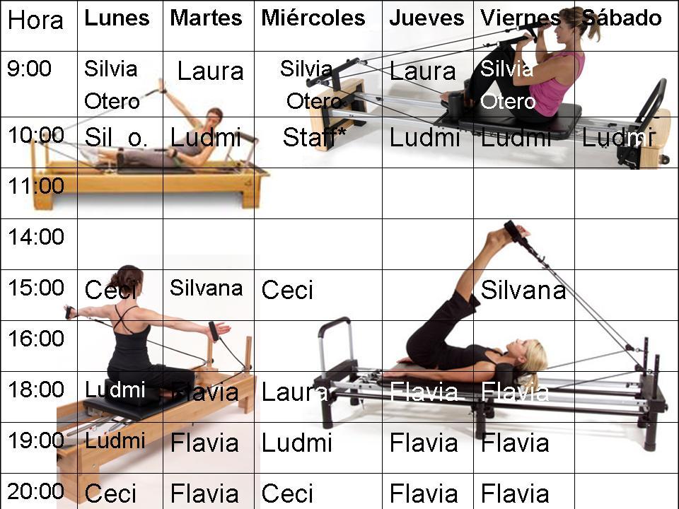 Clases y horarios gimnasio paula silva for Horario gimnasio