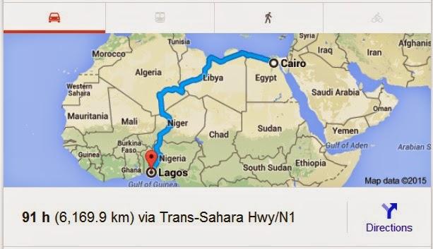 https://www.google.com/maps/dir/Cairo,+Cairo+Governorate,+Egypt/Lagos,+Nigeria/@18.2027714,0.2061032,4z/data=!3m1!4b1!4m14!4m13!1m5!1m1!1s0x14583fa60b21beeb:0x79dfb296e8423bba!2m2!1d31.2357116!2d30.0444196!1m5!1m1!1s0x103b8b2ae68280c1:0xdc9e87a367c3d9cb!2m2!1d3.3792057!2d6.5243793!3e0