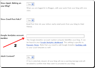 Google Analytics Connect For Blogger Blog