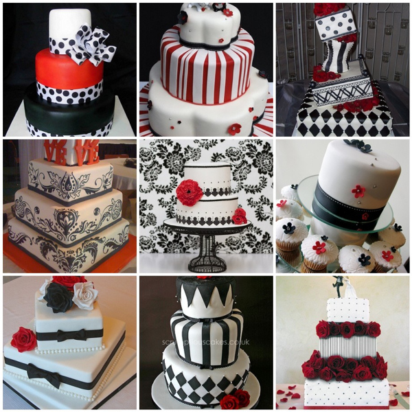 Black Red And White Wedding: Black And White Wedding With Red Accents