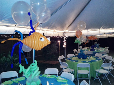 Under Sea Themed Party Decoration With Balloons