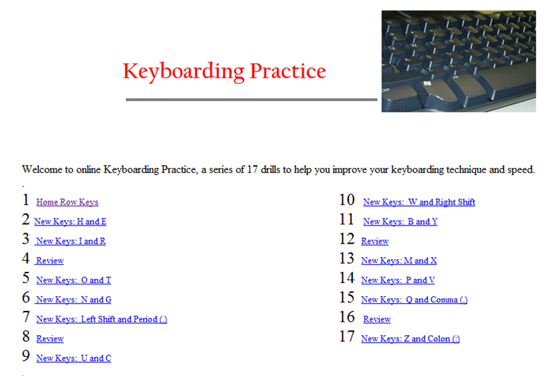 Printables Typing Practice Worksheets west hills christian school typing practice keyboarding is more of a traditional program those us that studied business education classes while in high will remember these