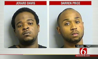 Jerard Davis and Darren Price have been charged; each says the other pulled the trigger.