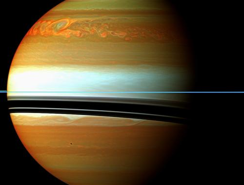 Огромный северный шторм на Сатурне