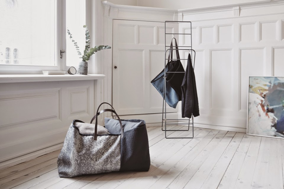 Herman CPH reinvents the Ikea blue tote with Kvadrat fabric