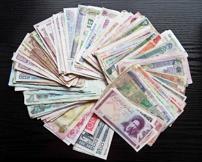 Worldwide paper money and notes