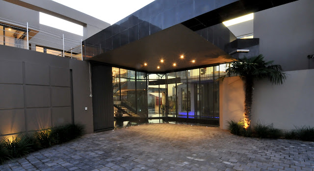 Entrance into the modern home