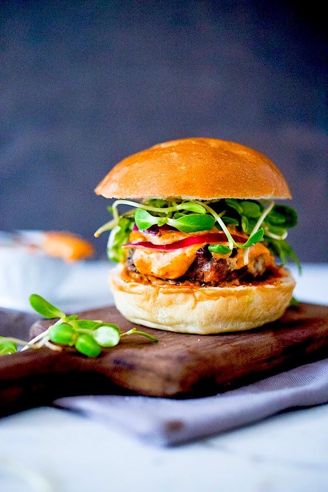 Grilled Harissa Burger