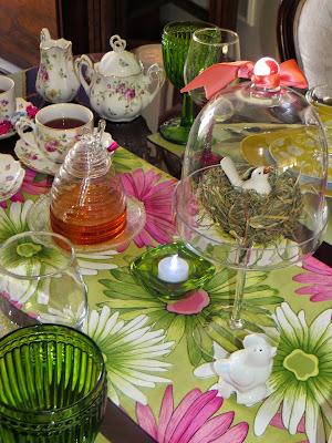 Easter/spring tablescape