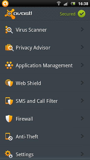 Avast! Mobile Security for Android