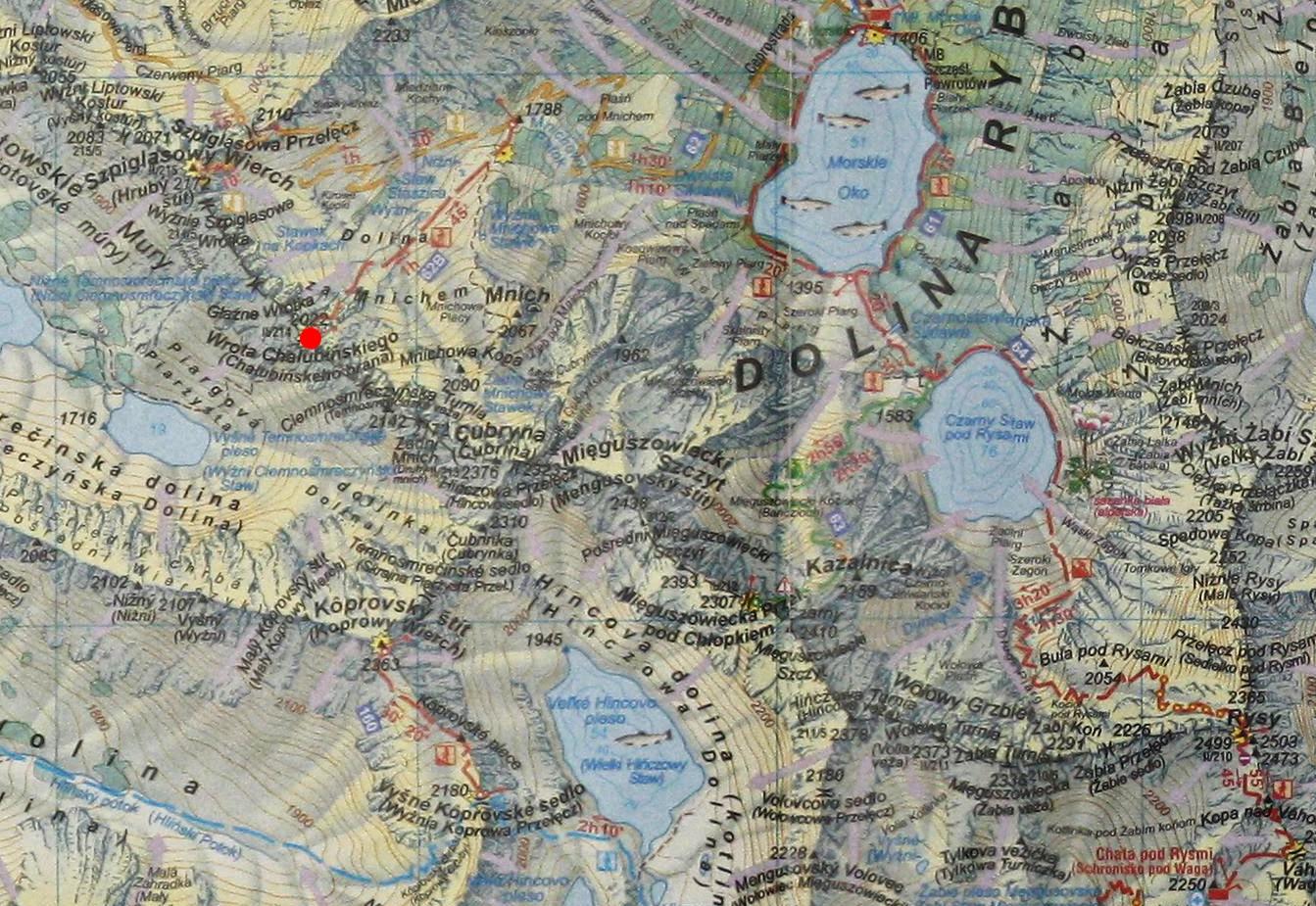 Wrota Chałubińskiego - mapa