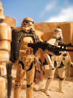 Taking a look at two different figures today, but with mirage of toys based on this troop, there's sometime's not much point in looking at them individually. Tatooine Stormtrooper Mos Eisley Empire Luke Skywalker Vintage Collection Action Figure Kenner Hasbro Star Wars Saga Original Trillogy SG OT